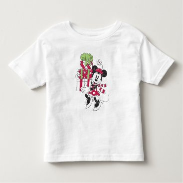 Disney Themed Disney | Vintage Minnie Delivering Holiday Cheer Toddler T-shirt