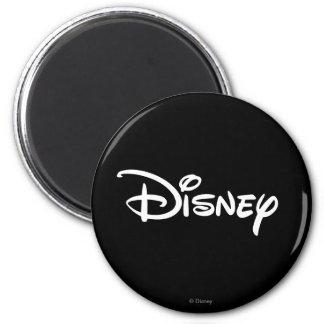 Disney White Logo 2 Inch Round Magnet