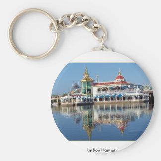 Disneyland Basic Round Button Keychain