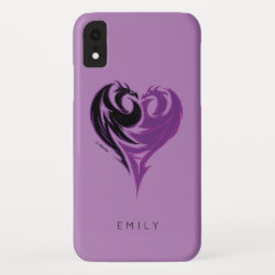 Case-Mate Barely There Apple iPhone XR Case with Mal Dragon Heart Logo design