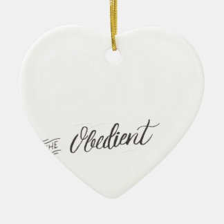 Disobedience - Henry David Thoreau Quote Ceramic Ornament