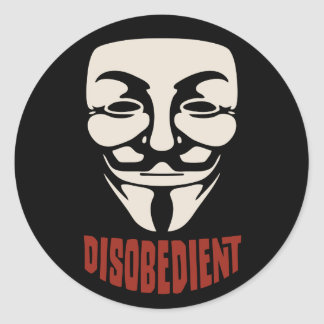Disobedient Classic Round Sticker