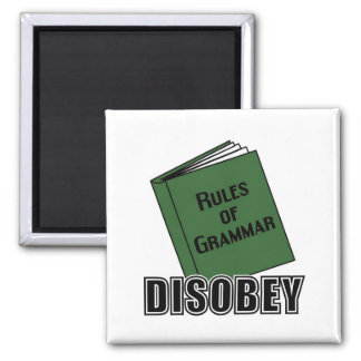 Disobey 2 Inch Square Magnet