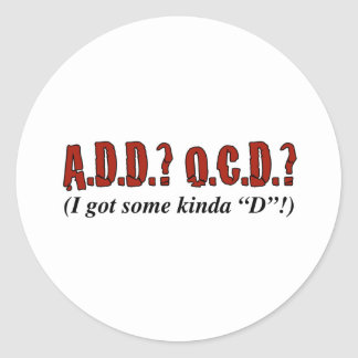 Disorder Party! Classic Round Sticker