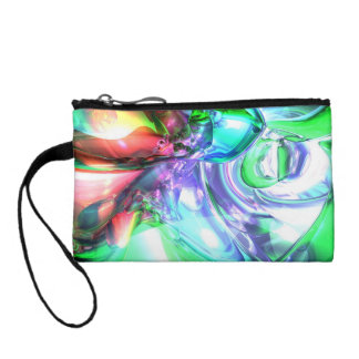 Disorderly Color Abstract Change Purse