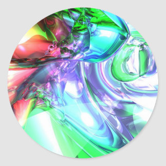 Disorderly Color Abstract Classic Round Sticker