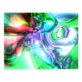 Disorderly Color Abstract Postcard