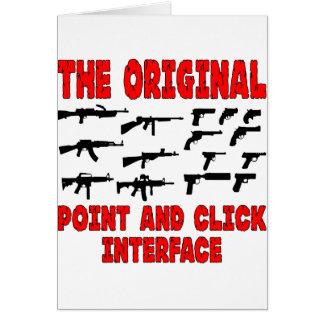 Dispara contra el interfaz original del punto y de tarjeton