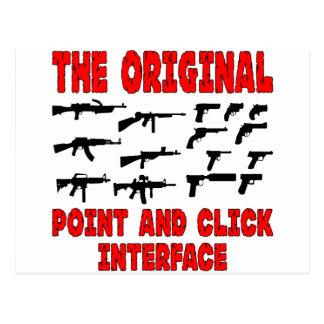 Dispara contra el interfaz original del punto y de tarjetas postales