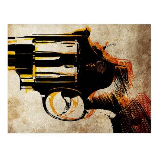 Disparador del revólver postales