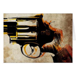 Disparador del revólver tarjeta de felicitación