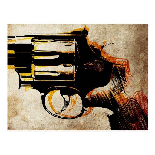Disparador del revólver tarjeta postal
