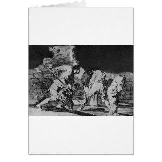 Disparate furioso by Francisco Goya Card