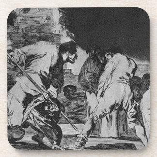 Disparate furioso by Francisco Goya Coaster