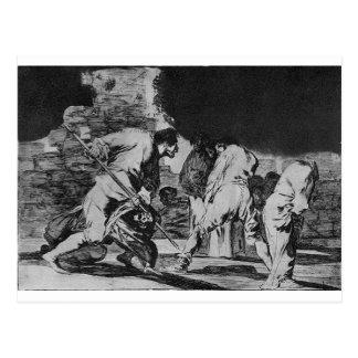 Disparate furioso by Francisco Goya Postcard