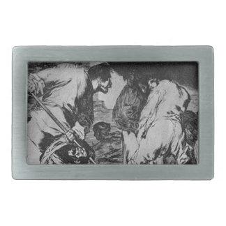 Disparate furioso by Francisco Goya Rectangular Belt Buckle