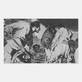Disparate furioso by Francisco Goya Rectangular Sticker