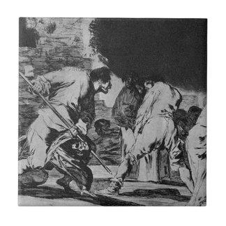 Disparate furioso by Francisco Goya Tile