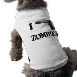 Disparo contra a los zombis 2 camisas de perritos