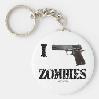 Disparo contra a los zombis 2 llaveros personalizados