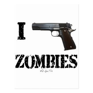 Disparo contra a los zombis 2 postales