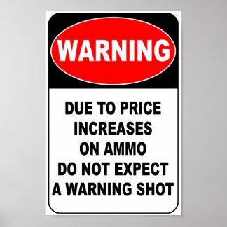 Disparo de advertencia poster
