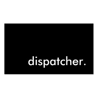 dispatcher. Double-Sided standard business cards (Pack of 100)