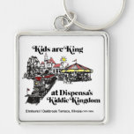 Dispensa's Kiddie Kingdom, Oakbrook Terrace Silver-Colored Square Keychain