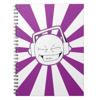 Disperse-L (Purple) Notebook