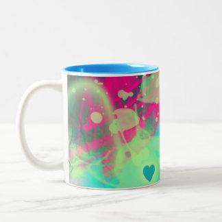 Dispersed love Two-Tone coffee mug