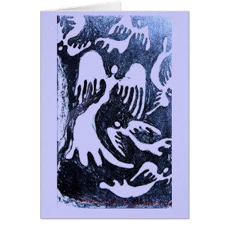 Dispersión de los ángeles #1 tarjeta de felicitación