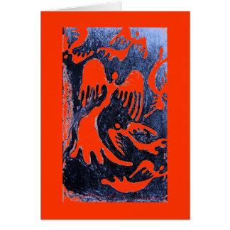 Dispersión de los ángeles #2 tarjeta de felicitación
