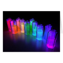blacklight, chemistry, spectrum, rainbow, Card with custom graphic design