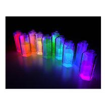blacklight, chemistry, spectrum, rainbow, Postcard with custom graphic design