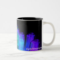 dispersion, glowing, fluids, flourescent, fluoresence., fantasy, science fiction, Mug with custom graphic design