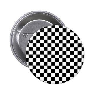 Displaced Checker 2 Inch Round Button