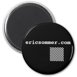 Displaced Checker Fridge Magnet