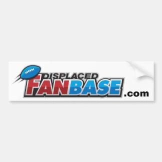 Displaced Fan Base Bumper Sticker