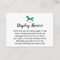 Display Baby Shower Gift Card with Rocking Horse
