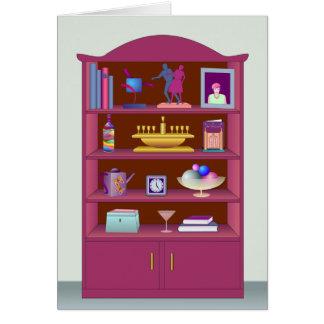 Display Cabinet Greeting Card