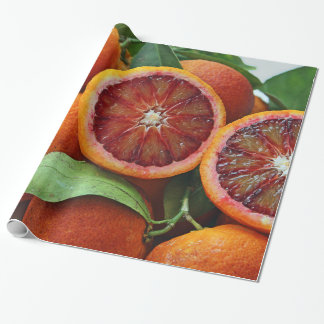 Display of Juicy Blood Oranges Wrapping Paper