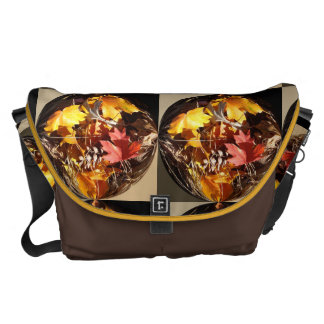 Display of Maple Leaves & Fall Colors in Globe Courier Bags