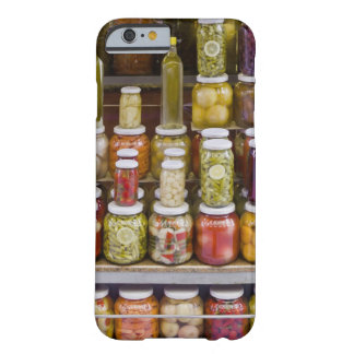 Display of pickled fruits and vegetables. barely there iPhone 6 case