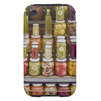 Display of pickled fruits and vegetables. tough iPhone 3 cover