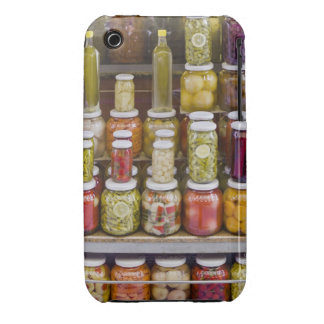 Display of pickled fruits and vegetables. iPhone 3 Case-Mate case