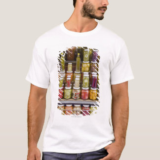 Display of pickled fruits and vegetables. T-Shirt