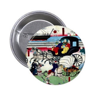 Display of vehicles in Tokyo by Utagawa,Kuniteru Buttons