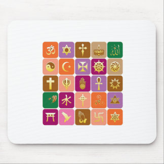 DISPLAY only :Decorative Religious ICONS Mouse Pad