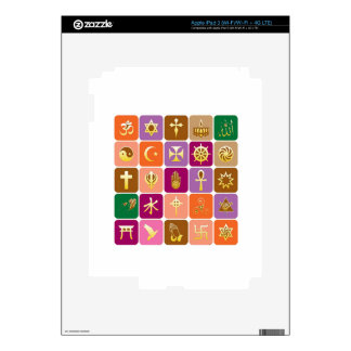 DISPLAY only :Decorative Religious ICONS Skin For iPad 3