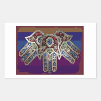 DISPLAY only :Decorative Religious ICONS Rectangular Sticker